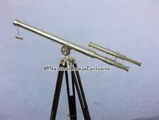 Telescope Solid Brass Collectible Double Barrel Tripod Vintage Marine Maritime