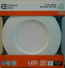 "Commercial Electric T65 5"" 6"" Soft White 2ea Recessed LED Trim 2700k CER6730N*27"