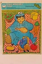 Vintage Whitman Cookie Monster Frame Tray Puzzle 1979 Sesame Street Picnic