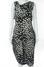 Moschino Cheap & Chic Black Silk Abstract Pencil Skirt Blouse Set Size 10