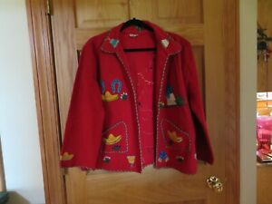 Wonderful 1950s LOPEZ-100% Wool Jacket-Made in MEXICO.SO FUN-M/L?