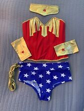 Frederick's Wonder Woman Corset Adult Female Superhero Costume Halloween Medium