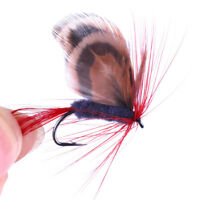 12pcs Various Trout Salmon Floating Insect Dry Flies Fly Fishing Lure Set Bait L