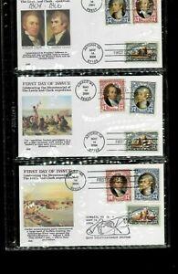 Premier Jour Ensemble Lewis & Clark - #' s3854-56 W/Cachets Postmarked Ilwaco Wa