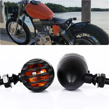 12V Chopper Motorcycles Turn Signals Halogen Yellow Driving Light Aluminum 10mm (Fits: Yamaha Royal Star)