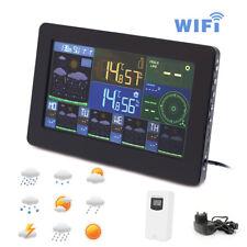WiFi Weather Station Thermometer Clock Digital Indoor Outdoor Humidity Alarm App