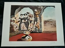 Salvador Dali Disappearing Bust of Voltaire on Arches EA Signed 22 x 29 1/4 Rare