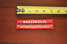 New Honda Racing Team International Patch Hat Cap Jacket Red Blue Yellow 5x1.5""