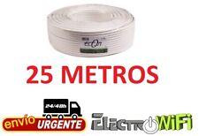 Cable Coaxial para Antena tv bobina 25m metros TDT SAT 6.8 MM