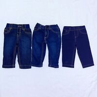 Carter's Baby Blue Jeans Lot of 3 size 9 Months Pants Boys or Girls