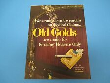 OLD GOLDS Cigarettes Made For Smoking Pleasure Only Print Ad PA005