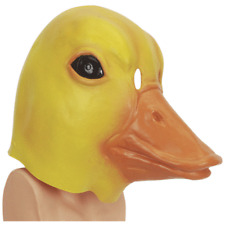 ADULT TUB TIME YELLOW DUCK DUCKY DONALD QUACK ANIMAL COSTUME LATEX RUBBER MASK