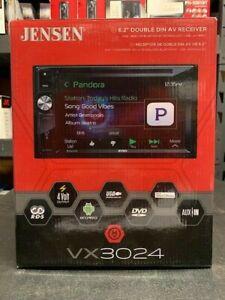 Jensen VX3024 Double DIN Bluetooth DVD/CD/AM/FM/Digital Media Car Stereo