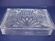 WATERFORD CRYSTAL MILLENNIUM SERIES RECTANGULAR ETCHED JEWEL BOX TRINKET W/ LID