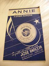 Partitura Annie José Rescate Fredy Balta