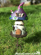 Metal Fairy Pixie lover Toadstool shaped TREE HOUSE garden ornament decoration