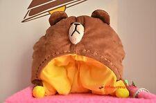 Takara TOMY LINE Town APP Brown Head Bear Plush Cap Hat Adult NWT