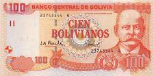 Bolivia 100 Bolivianos 2001 Unc Pn 226