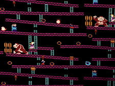 FT137 Donkey Kong Nintendo Japanese Video Game Gamer Retro Cotton Quilt Fabric