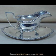 Scarce International Sterling Silver Gravy Boat & Underplate Lord Robert