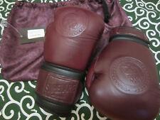 EC Superare Fight Dukes Boxing Muay Thai Gloves Wine Maroon 16 oz Fairtex Yokkao