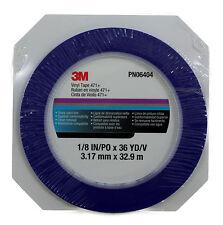 3M Fine Line Vinyl Striping Tape 471 + PN6404, 1/8 Inch x 36 Yard (Pack of 1)