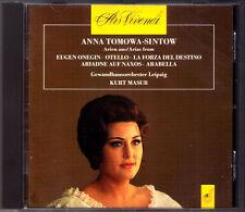 Anna TOMOWA-SINTOW Tchaikovsky Verdi Strauss KURT MASUR CD Eugene Onegin Otello