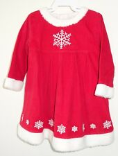 NWT Hanna Andersson Red Corduroy Snowflake Dress Girl's Sz 80, 10-24M