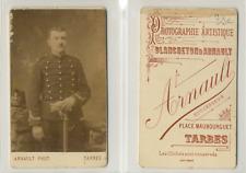 CDV Arnault, Tarbes, Militaire, uniforme à brandebourgs, circa 1890 Vintage CDV