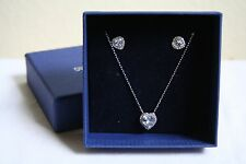 NWT Swarovski Cyndi Set Pendant & Pierced Earring Heart Clear Crystal 5112175
