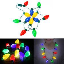 LED Christmas Lights Necklace Light Up Bulb For Wedding Party Celebration Favors