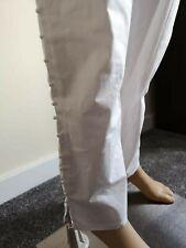 NUOVO pakistano CAPRI MATITA CIG Stylist pants pantaloni in cotone con bottoni