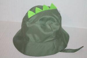 Goldbug Green Dinosaur Spikes Bucket Sun Hat Infant Baby Boy 6-18 Months NEW