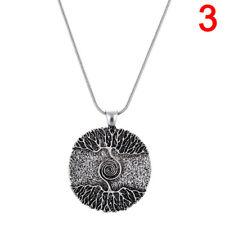 �rbol curativo de plata de la vida collar colgante amuleto talismán árbolnórd dG