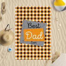 147x99.1cm fête des pères BEST DAD éternel VICHY Microfibre Serviette de plage