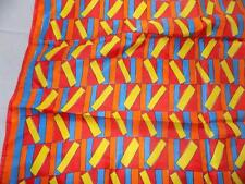 "Vintage Vera Vivid Multi-Primary Colors Geometric Pattern 26"" Square Scarf"