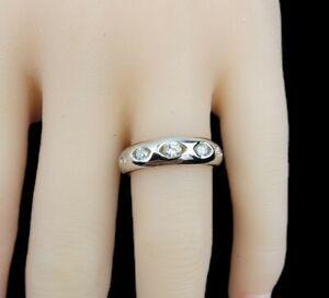 18K White Gold .29 CTW Diamonds Wedding Engagement Ring Size 7