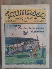 JEUNESSE MAGAZINE 1ére Année N°02  Aventures AVIATION  10 janvier 1937