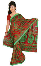 mousseline Bollywood Carnaval SARI ORIENT INDE fo349