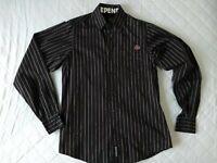 Independent Trucks Size S Small Skater Shirt Long Sleeve Black Stripes