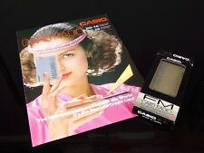 NOS Radio card CASIO RD-10 Gold box + brochure full working rétro 80's RARE