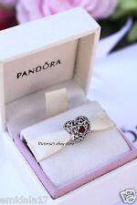 Authentic Pandora July Signature Heart Charm 791784SRU