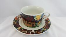 Vintage Gibson Cup and Saucer Set-Farm Scene -Free Shipping