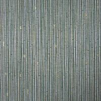 Vinyl green silver gold metallic vertical bamboo lines textured Wallpaper rolls