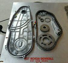 09 SKI DOO rev XP 800r chaincase cover p-tek  gears chain tensioner 27 45 tooth