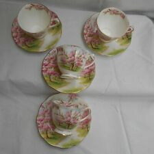Royal Albert Blossom Time 4 x Cups and Saucers (af)