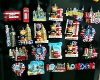 3D I LOVE LONDON ENGLAND UK FRIDGE MAGNET SOUVENIR CERAMIC FRIDGE MANGET