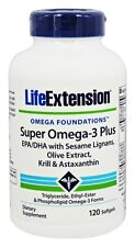 2 BOTTLES $25.49 Life Extension Super Omega-3 Plus EPA/DHA Krill Astaxanthin