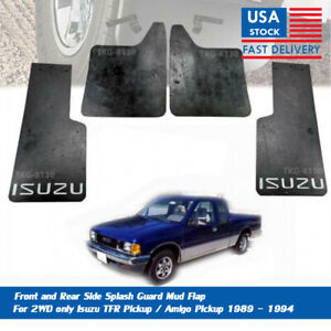 Front And Rear Splash Guard Mud Flap Fender For (2WD) Isuzu TFR Pickup 89 - 94