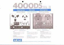 Akai  Bedienungsanleitung user manual für 4000 DS MK II